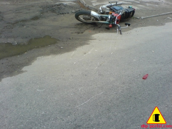 Мотоциклист столкнулся с
