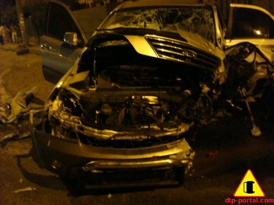 Фото вид спереди автомобиля Kia Sportage