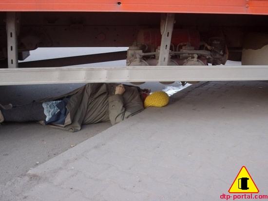 Фото труп под грузовиком