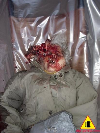 Фото раздавленной головы бабушки-пешехода