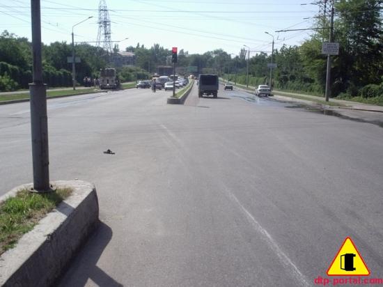 Вид с улицы Верхней в Запорожье