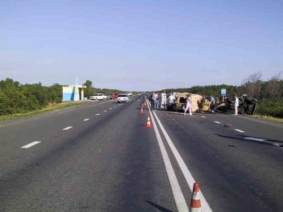 Лобовое столкновения в Луганской области
