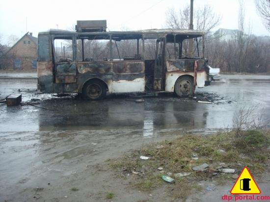 фото трупа в сгоревшем автобусе
