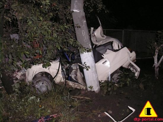 Славута разбилась о столб - погиб водитель